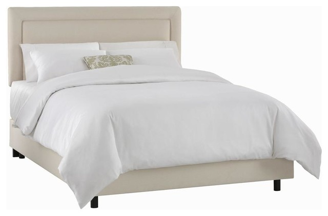Twill Bed w Foam Padding in Natural (King)