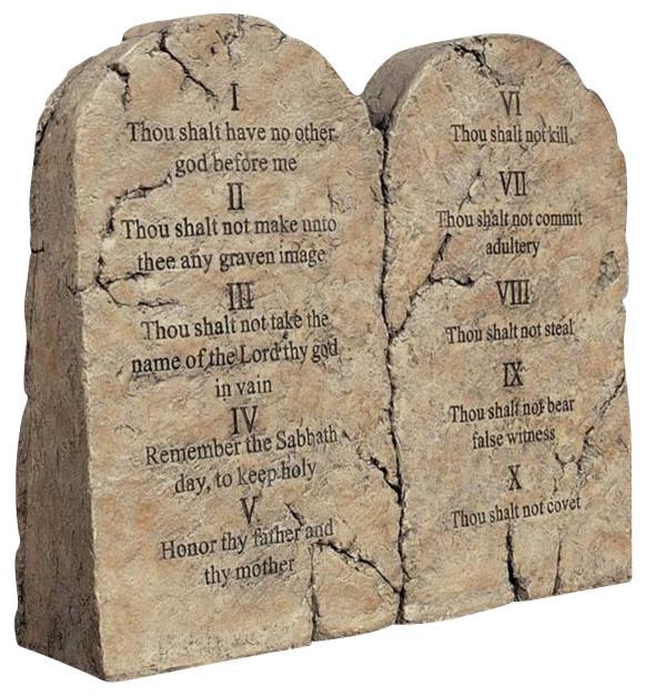 Ten Commandments Tablets Statue Contemporary