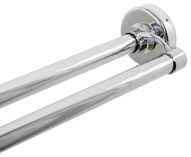 Zenna Home Chrome Double Shower Rod - Modern - Shower ...