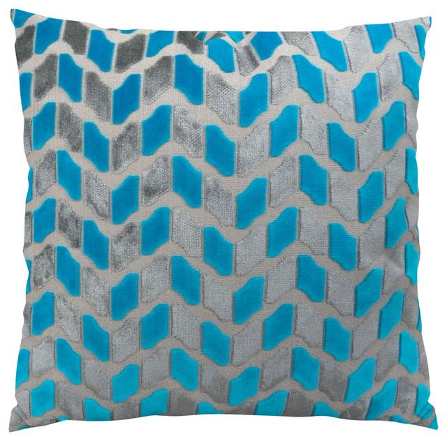 Plutus Deep Sea Dive Handmade Throw Pillow, Double Sided, 22x22.