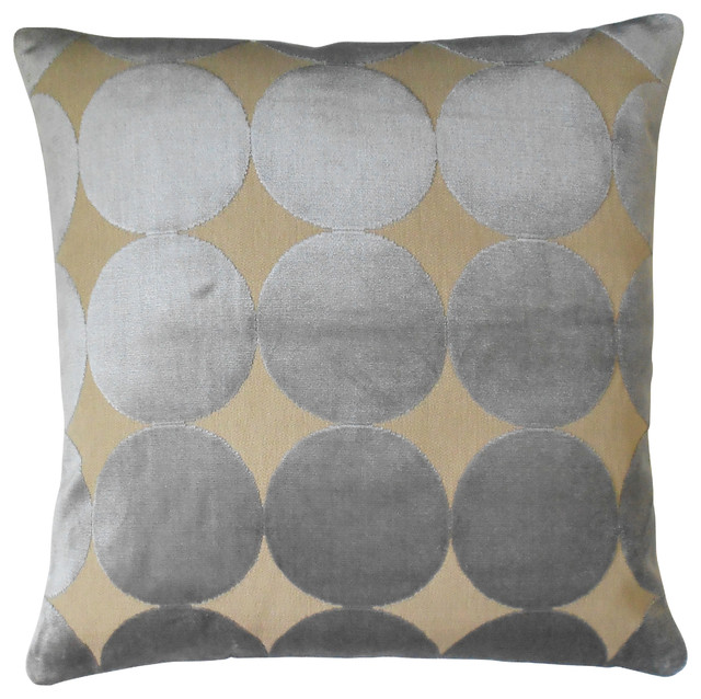 Modern Gray Velvet Dots Decorative Pillow Cover - Contemporary - Decorative Pillows - by Pillow ...
