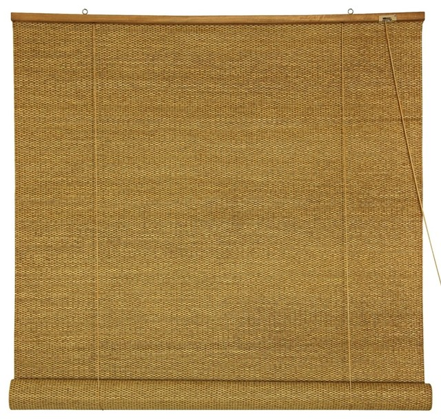 Woven Jute Roll Up Window Blinds, 24 In. W X 72 In. H.