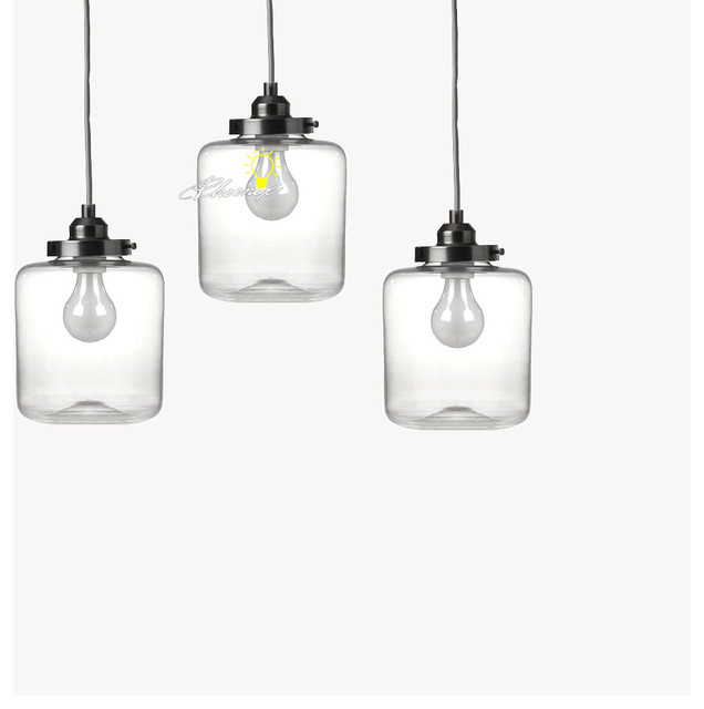 Modern Clear Glass Pendant Lighting