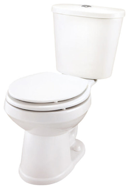 Gerber 16 Gpf Toilet Seat.Gerber Df 21 100 Maxwell White Dual Flush 2 Piece Round Front Toilet
