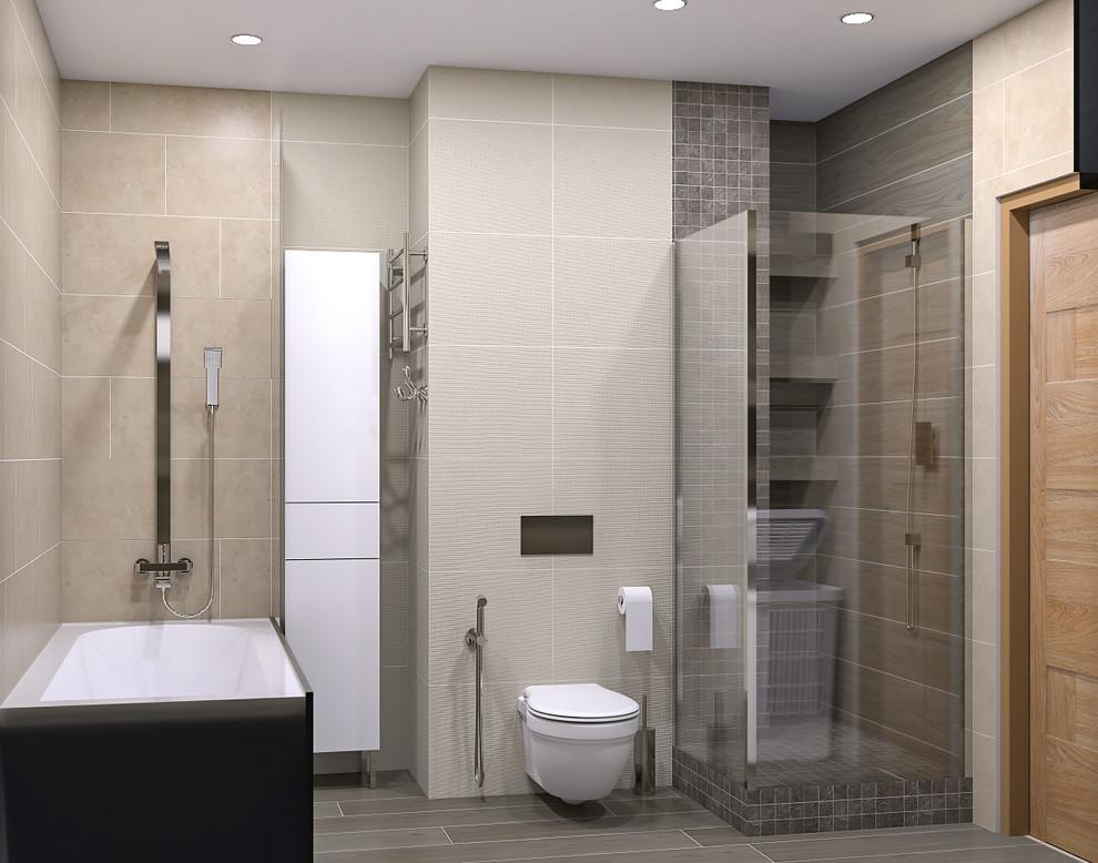 Ванная в трехкомнатной квартире в ЖК Гринада 1