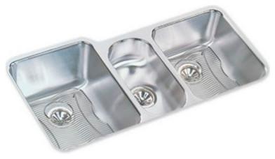 """Elkay Lustertone Stainless Steel 40""""x20-1/2""""x9-7/8"""" Sink Kit Eluh4020dbg."""