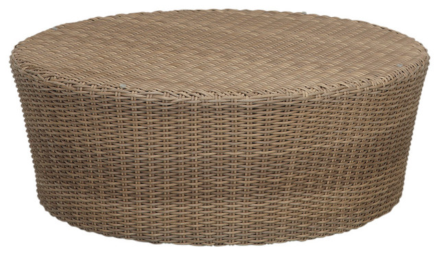 coronado round coffee table - beach style - outdoor coffee tables