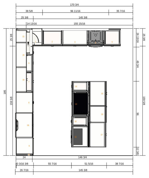Ikea Kitchen Layout Help Xpost From Gardenweb