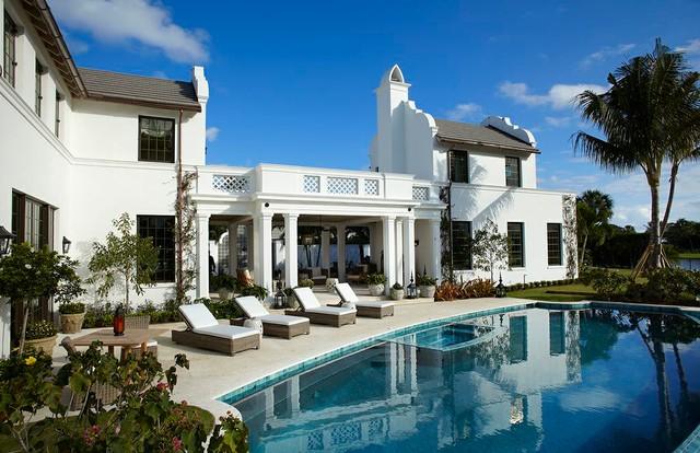Inspiration for a mediterranean home design remodel in Other