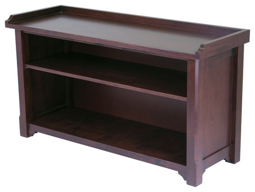 Winsome Milan Storage Bench in Antique Walnut