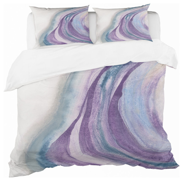 Watercolor Geode Ii Geometric Duvet Cover Set Contemporary Duvet Covers And Duvet Sets By Design Art Usa Houzz