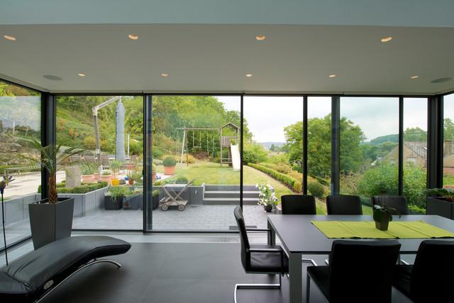 Keller Wintergarten glashaus mit keller minimal windows minimalistisch wintergarten