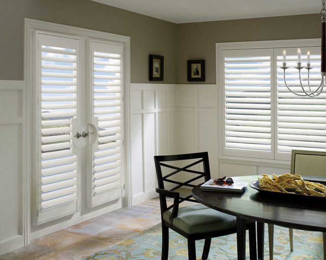 Palm Beach Poly Satin Shutters Dining Room Plantation