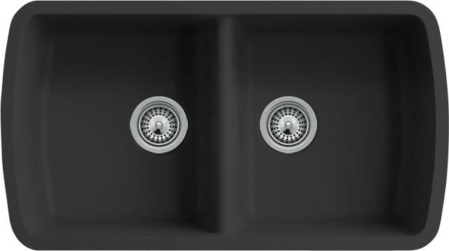 Quartz Composite Double Bowl Undermount Kitchen Sink