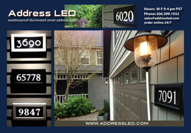 address led illuminated address panel