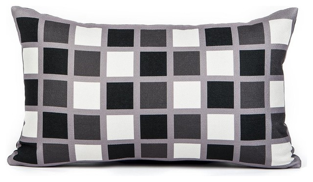 lance black white and gray throw pillow cover decorative pillows - Black Decorative Pillows
