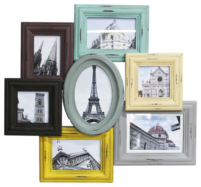 Country pastel wall photo frames 55x51 cm eclectic picture frames by my flair - Eclectic picture frame wall ...