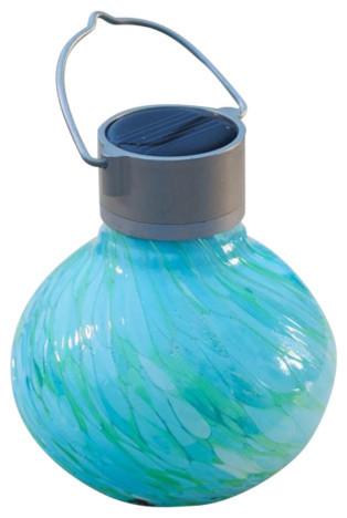 Solar Glass Tea Lantern Contemporary, Allsop Home And Garden Solar Tea Lantern