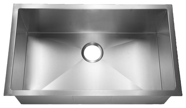 Farmhouse Handmade Jasper 15 Gauge Large Single Bowl Flat Rim Sink, Zero  Edge Modern