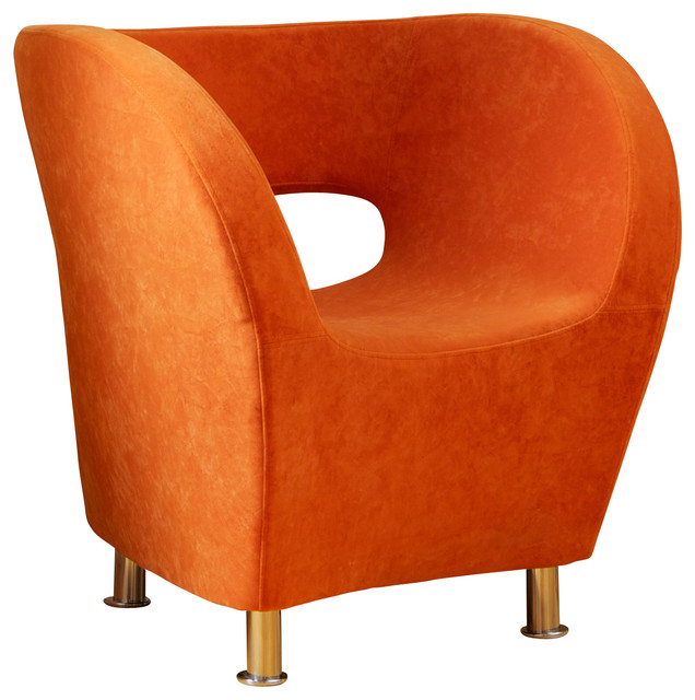 Salazar Modern Design Accent Chair, Orange contemporary -armchairs-and-accent-chairs