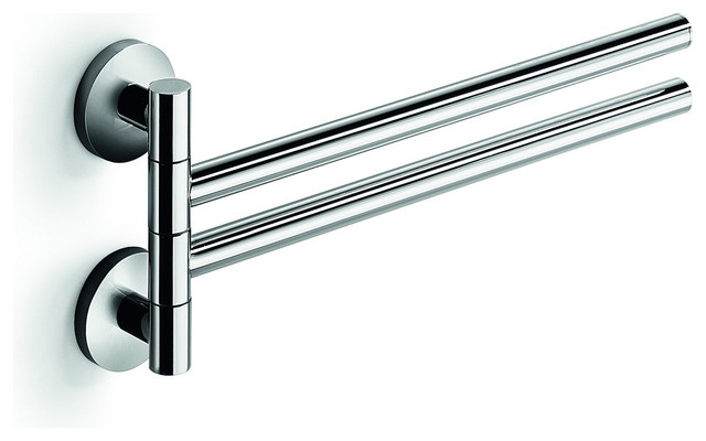 Swinging Towel Bar : Lb napie double swing out towel bar with folding arms