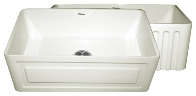 """Reversible Series Fireclay Sink, Biscuit, 30""""x10""""."""