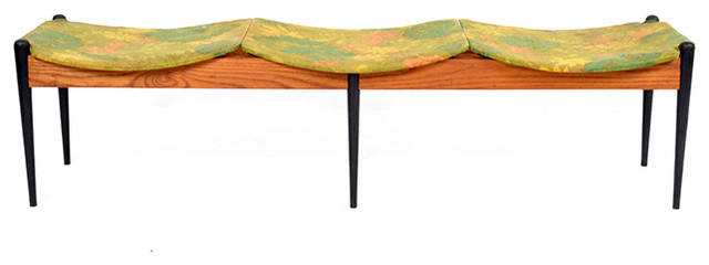 Consigned John Stuart Midcentury Three-Seater Bench.