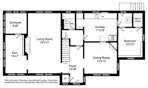need help redesigning floor plan including kitchen - Family Room Floor Plan