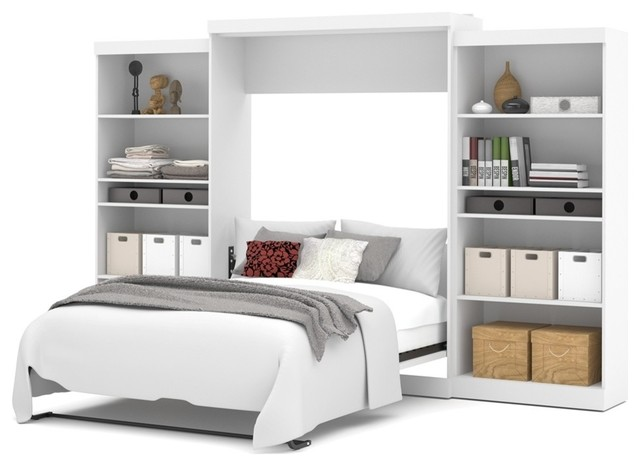 Bestar Pur By Bestar 136 Queen Wall Bed Kit, White
