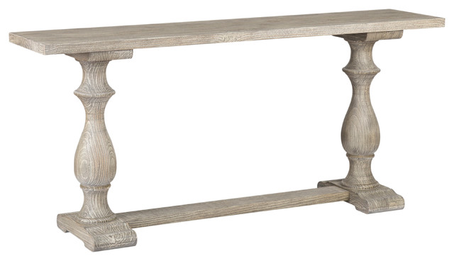 Kosas Home Rustic Westminster Warm Gray Console Table Traditional