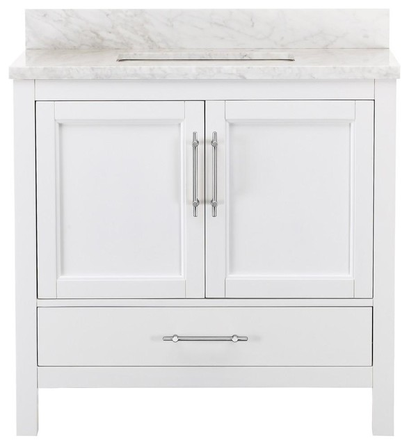Kendall White Bathroom Vanity 36