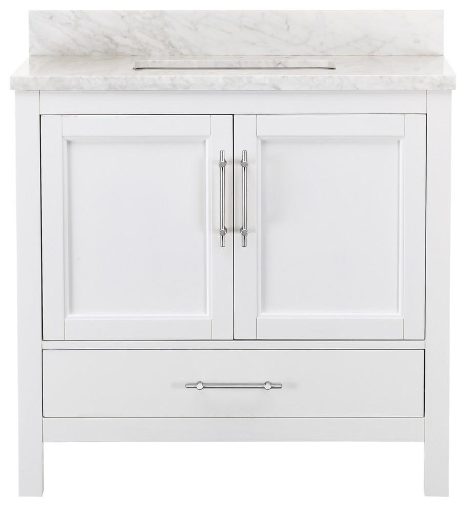 Kendall White Bathroom Vanity - Transitional - Bathroom Vanities ...