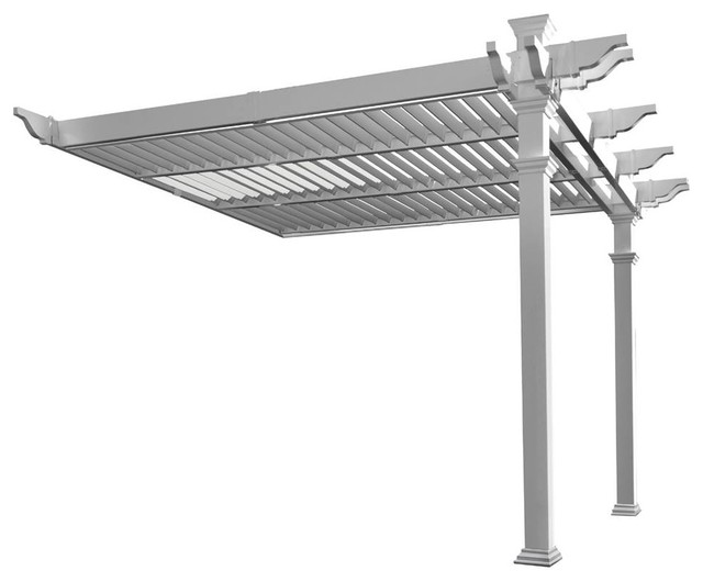 Elysium Attached Louvered Pergola.