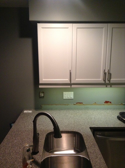 Backsplashend Of Kitchen But Not Wall