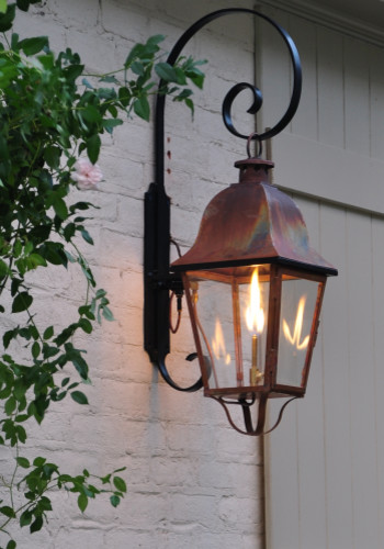 LaCaze Collection: Rutledge Lantern: Handcrafted copper lanterns, custom outdoor