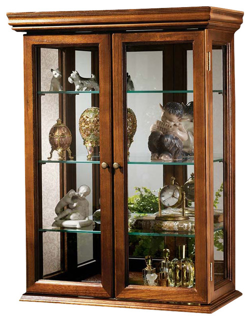 Design Toscano   Country Tuscan Hardwood Wall Curio Cabinet: Walnut Finish    China Cabinets And