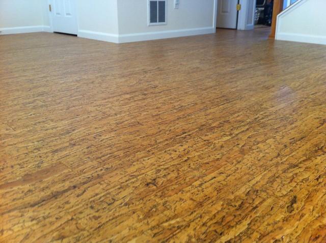 Cork floor contemporary hardwood flooring denver for Hardwood floors 60 minutes