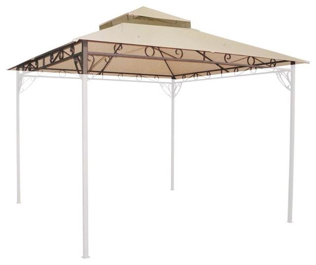 10.6u0027x10.6u0027 Waterproof Replacement Canopy Top For Madaga Gazebo Frame contemporary-  sc 1 st  Houzz & 10.6u0027x10.6u0027 Waterproof Replacement Canopy Top For Madaga Gazebo ...