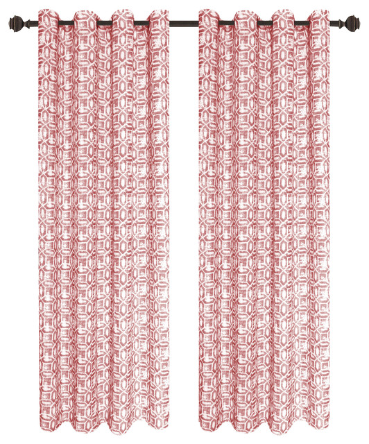 Emma Curtain Panel 2-Pack, Terracotta