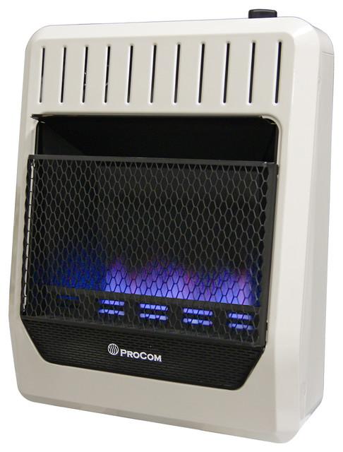 Ventless Dual Fuel Blue Flame Thermostat Control Wall Heater,20,000 Btu.