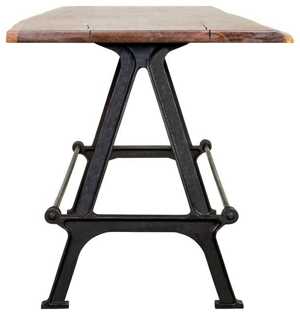 Kosen Dining Table Reclaimed Harwood Industrial