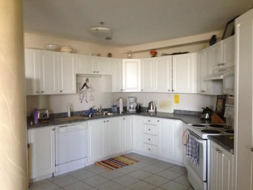 Grey Countertop All Else Tan - White cupboards grey countertops