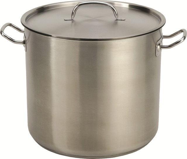 Stainless Steel Commercial-Grade Stock Pot.