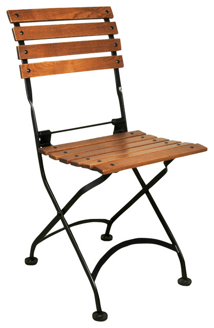 French Caf̩ Folding Side Chairs, Set Of 2.