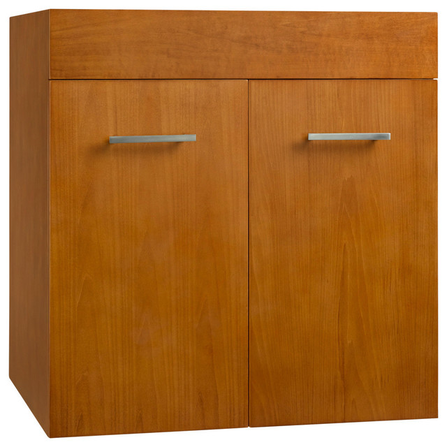 Ronbow corporation ronbow bella solid wood 23 wall mount vanity base cabinet view in your - Solid wood bathroom wall cabinet ...