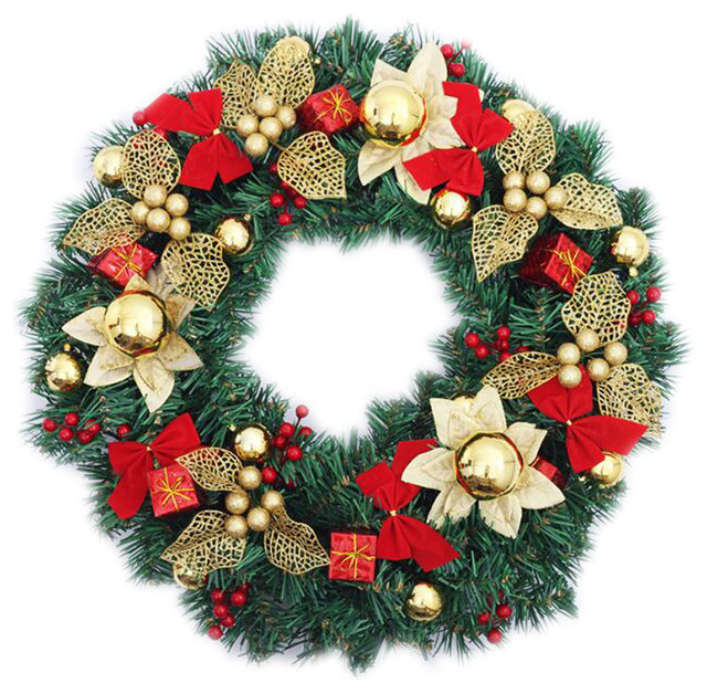 "Nice Christmas Wreath 20"" Holiday Ornaments Wreath."