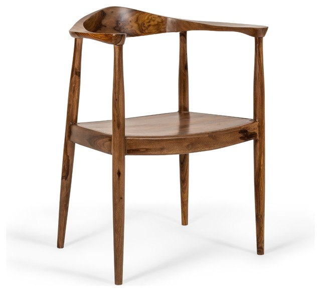 Irving Mid Century Presidential Wooden Carver Chair.