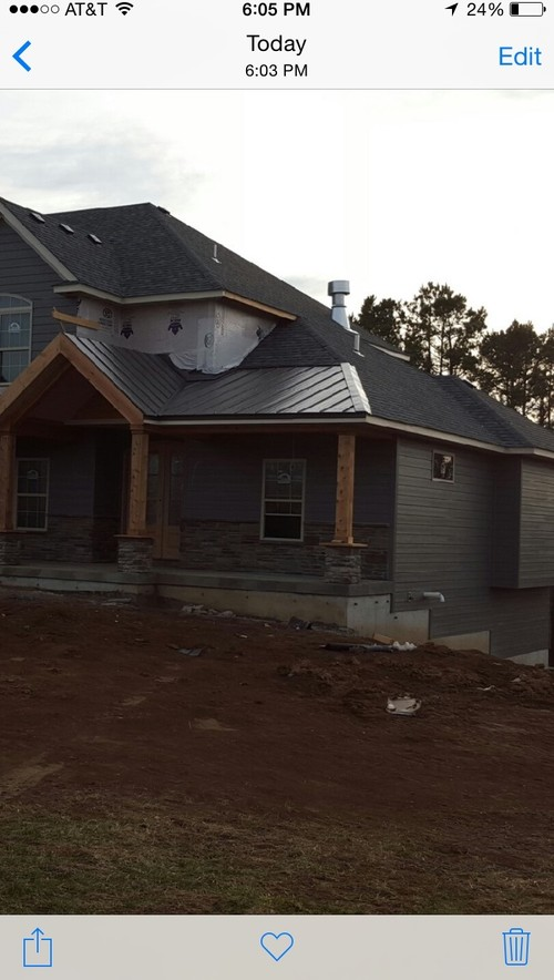 Shingle To Metal Porch Roof Transition