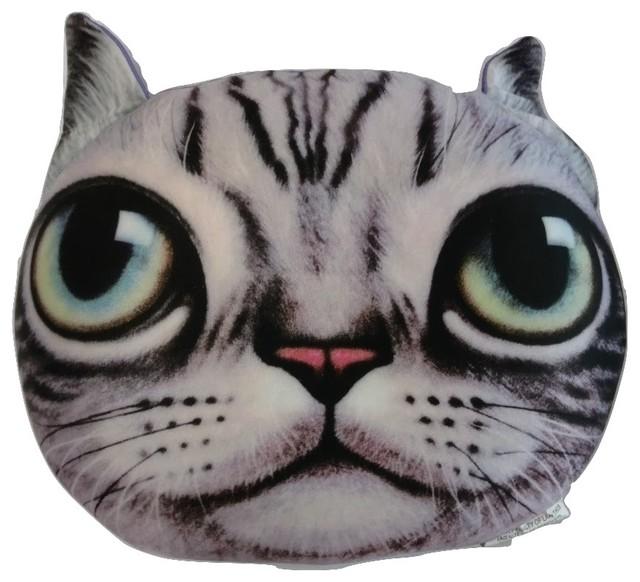 Cute Microbead Pillow : Tache Cute Squishy Soft Cat Microbead Realistic Throw Pillow - Contemporary - Decorative Pillows ...