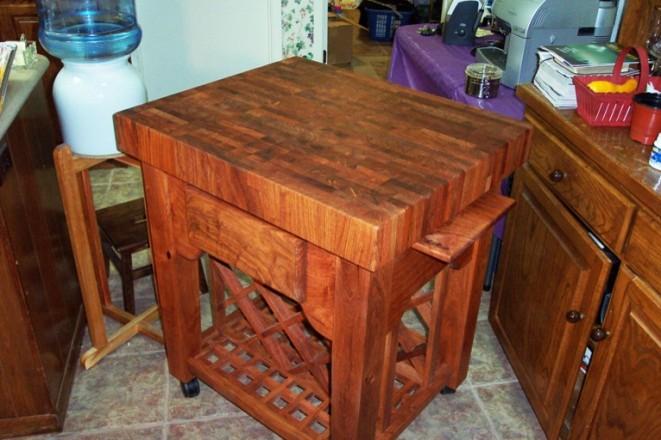 Mesquite Butcher Block kitchen cart